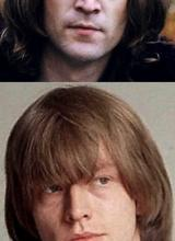 Photos de John Lennon et de Brian Jones
